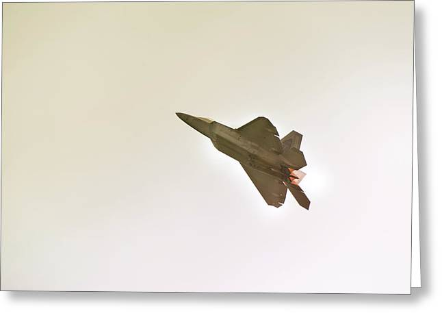 F-22 Raptor Greeting Card by Sebastian Musial