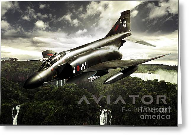 F-4 Phantom Fighter Jet Greeting Card by Fernando Miranda