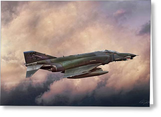 Interceptor Greeting Cards - F-4E Phantom SEA Greeting Card by Peter Chilelli