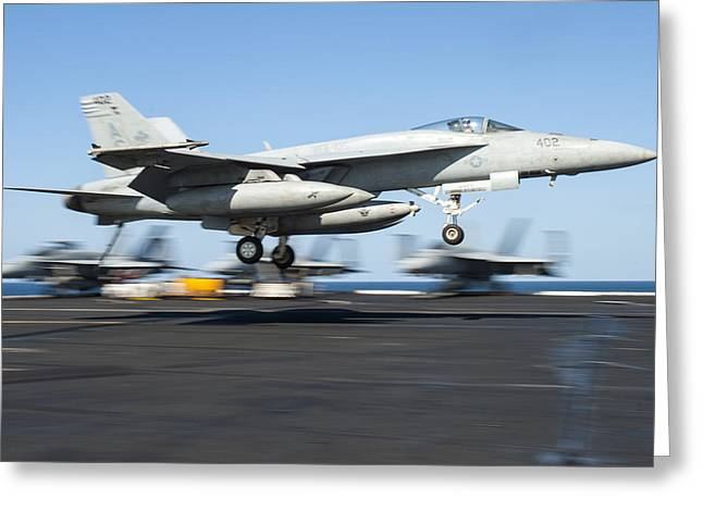 F-18 Paintings Greeting Cards - F A-18 Super Hornet US Navy Greeting Card by Celestial Images