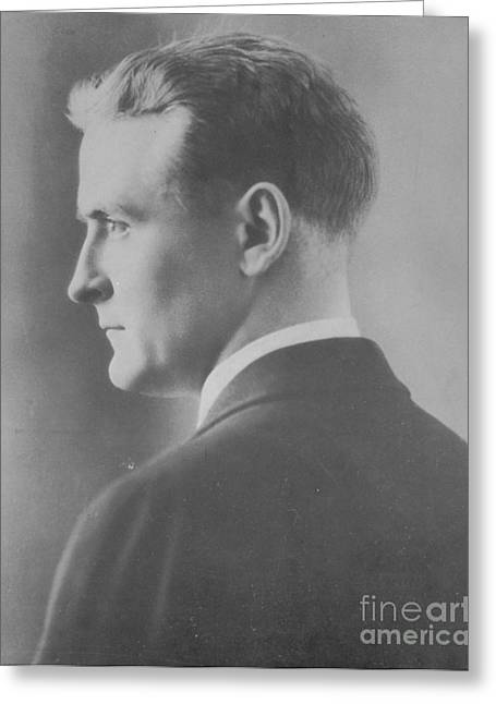 Photo . Portrait Greeting Cards - F. Scott Fitzgerald, American Author Greeting Card by Photo Researchers