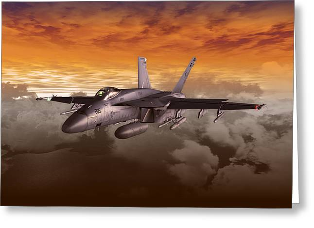 Naval Aviation Greeting Cards - FA 18 number21 Greeting Card by Mike Ray