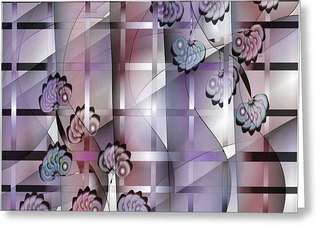 Abstract Shapes Greeting Cards - Fabric 2 Greeting Card by Iris Gelbart