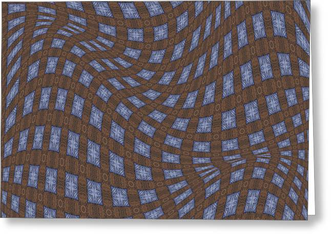 Abstract Art Digital Art Greeting Cards - Fabric Design 17 Greeting Card by Karen Musick