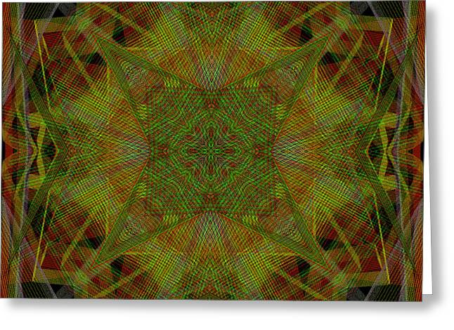 Generative Abstract Greeting Cards - Fabrications 2-27-2015 Greeting Card by Steven Harry Markowitz