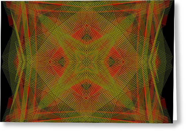 Generative Abstract Greeting Cards - Fabrications Series - 2-26-2015 - #1 Greeting Card by Steven Harry Markowitz