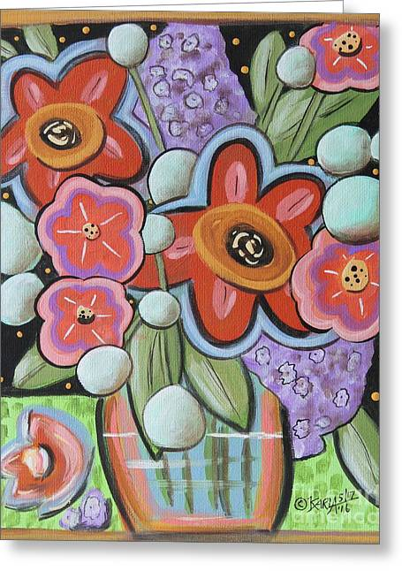 Fabulous Blooms 1 Greeting Card by Karla Gerard