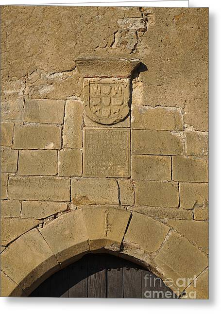 Portugal Greeting Cards - Facade detail of the medieval castle of Castro Marim Greeting Card by Angelo DeVal