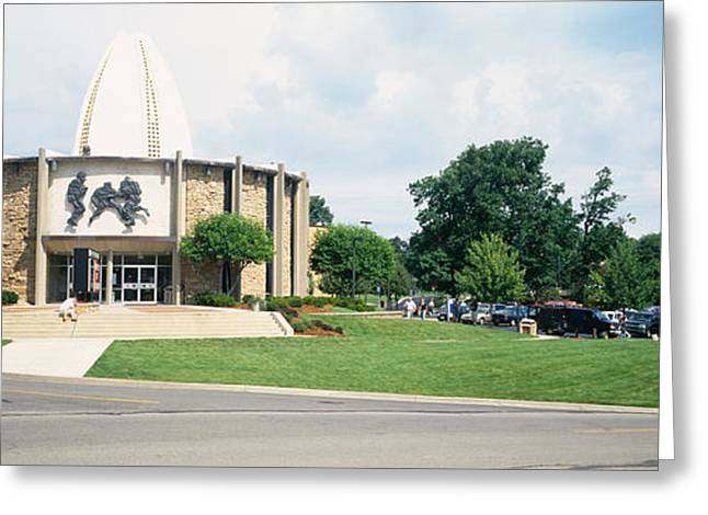 Facade Of A Museum, Football Hall Greeting Card by Panoramic Images