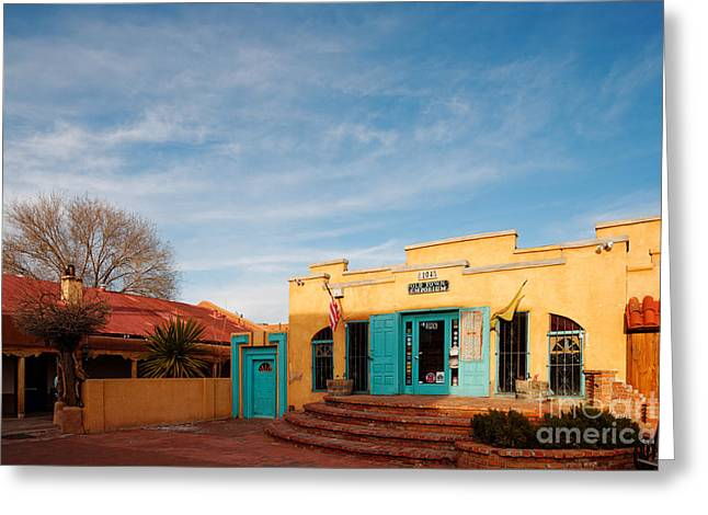 Colonial Style Greeting Cards - Facade of a Souvenir Store at Old Town Albuquerque - New Mexico Greeting Card by Silvio Ligutti