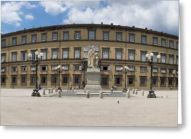 Facade Of The Ducal Palace, Piazza Greeting Card by Panoramic Images