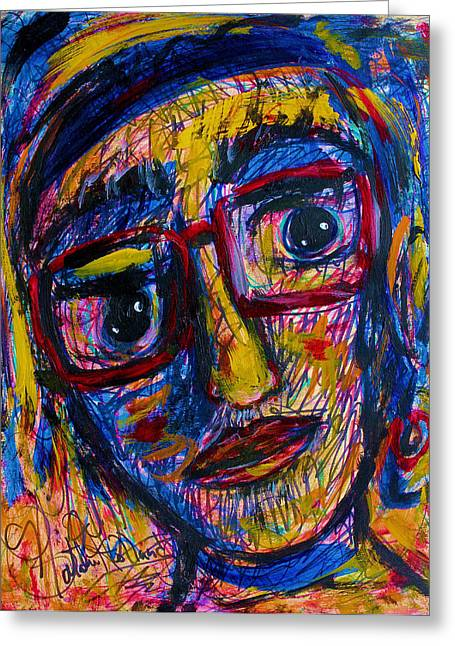 Natalie Holland Greeting Cards - Face 11 Greeting Card by Natalie Holland