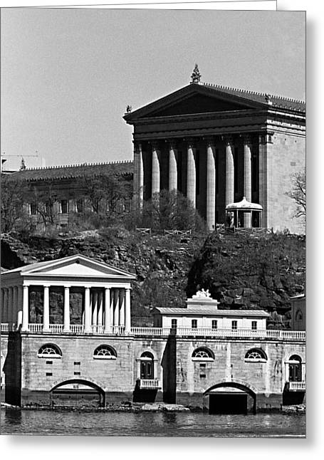 Philadelphia Art Museum Greeting Cards - Face Facade Greeting Card by Don Mennig