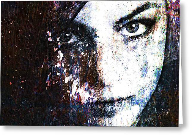 Digital Collage Greeting Cards - Face In A Dream Greeting Card by Marian Voicu