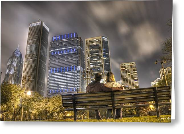 City Scapes Framed Prints Greeting Cards - Face in the Clouds at Millennium Park Greeting Card by Jeramie Curtice