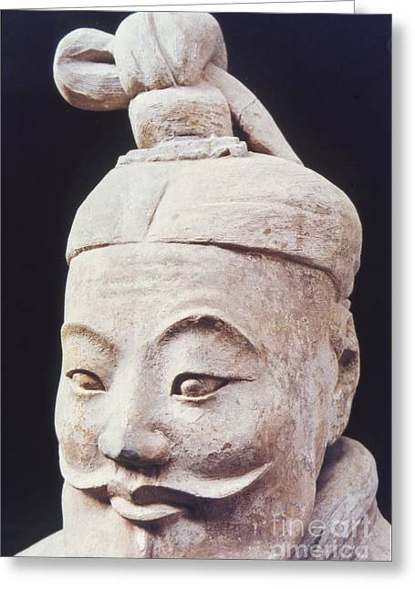 Face Of A Terracotta Warrior Greeting Card by Heiko Koehrer-Wagner