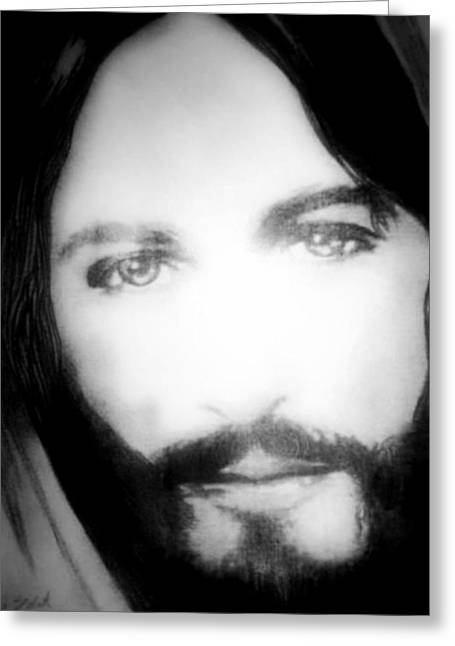 Face Of Jesus Greeting Card by Susan  Solak