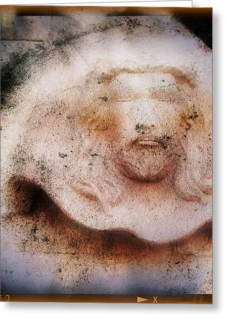 Gospel Greeting Cards - Face on the wall Greeting Card by Candee Lucas