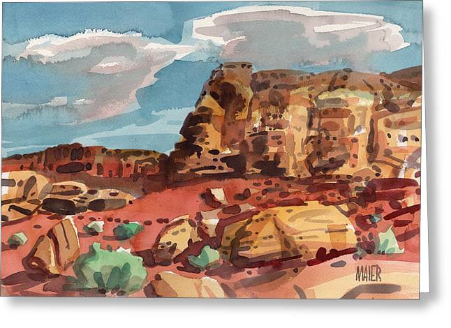 Mesa Greeting Cards - Face Rock Canyonlands Greeting Card by Donald Maier