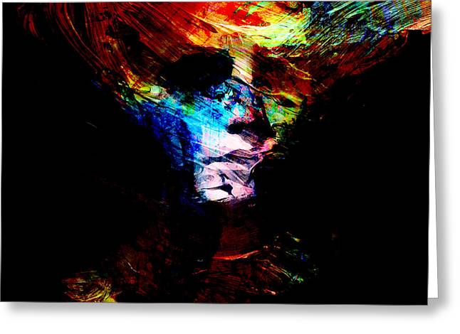 Abstract Art For Sale Digital Art Greeting Cards - Faceless Mind Greeting Card by Marian Voicu
