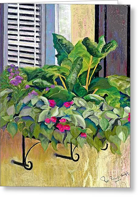 Flower Boxes Pastels Greeting Cards - Faces in the Sun Greeting Card by Patricia Huff