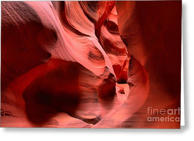 Holes In Sandstone Greeting Cards - Faces In Waterhole Greeting Card by Adam Jewell