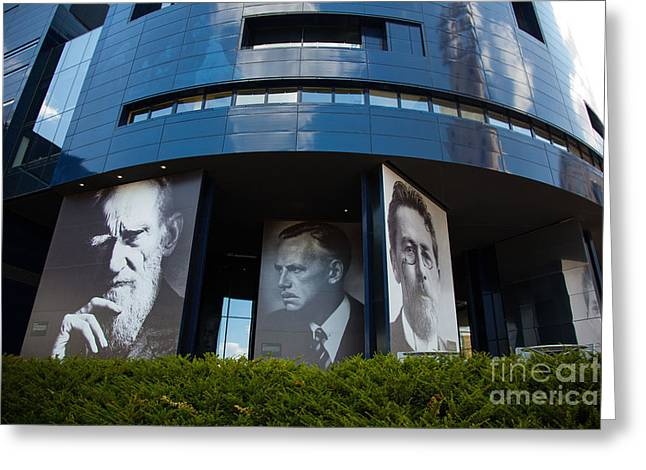 Faces Of Guthrie Theater Minneapolis Greeting Card by Wayne Moran