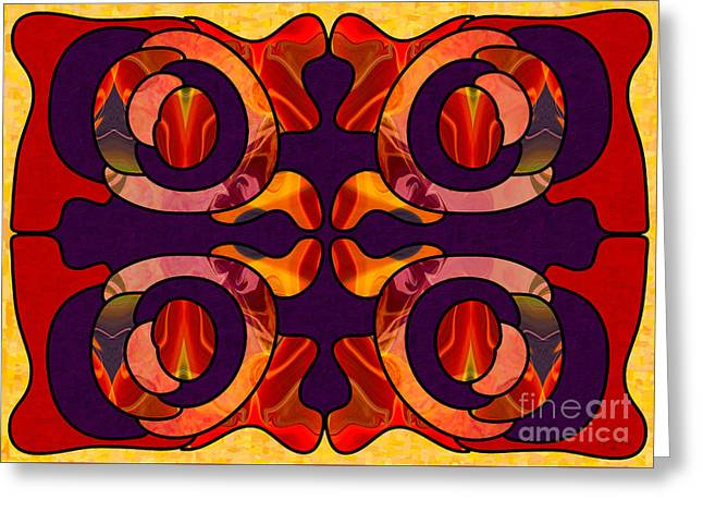 Facing Darkness Abstract Art By Omashte Greeting Card by Omaste Witkowski