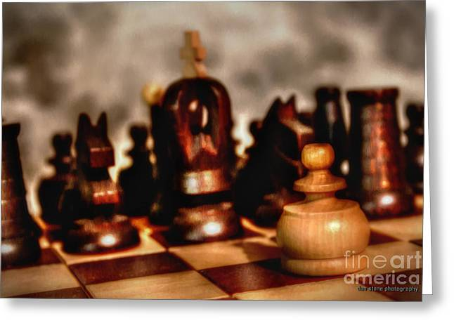 Chess Piece Digital Greeting Cards - Facing the Enemy Greeting Card by Dan Stone