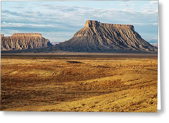Monolith Greeting Cards - Factory Butte Greeting Card by Alex Mironyuk