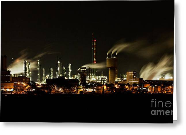 Cooling Greeting Cards - Factory Greeting Card by Nailia Schwarz