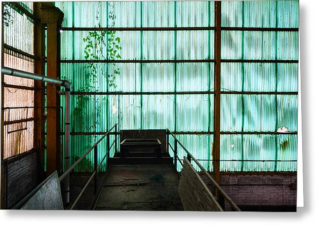 Factory Wall - Industrial Decay Greeting Card by Dirk Ercken