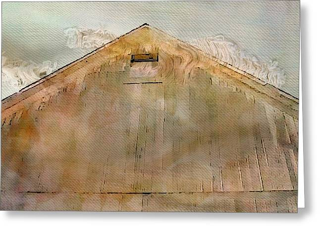 Outbuildings Greeting Cards - Faded Barnyard II Greeting Card by Ellen Cannon