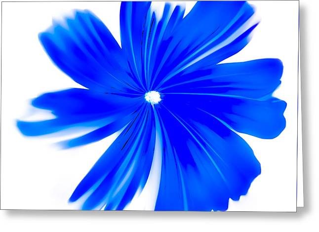 Floral Digital Art Greeting Cards - Faded Blue Greeting Card by Heather Joyce Morrill