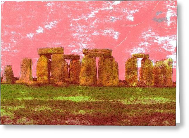 Ancient Ruins Greeting Cards - Faded Grandeur Greeting Card by Jen White