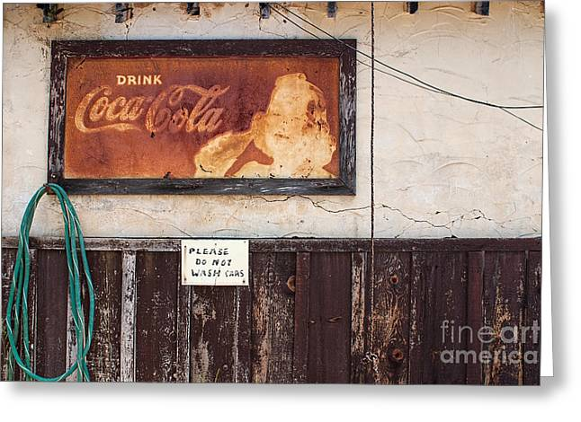 Faded Refreshment Greeting Card by Scott Nelson