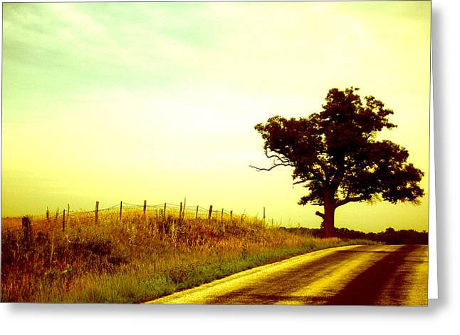 Faded Sky Greeting Card by Jame Hayes