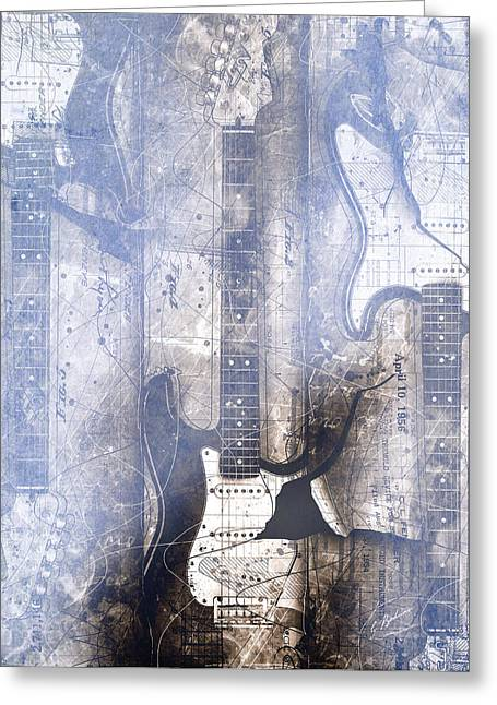 Guitar Art Greeting Cards - Fading Away Greeting Card by Gary Bodnar