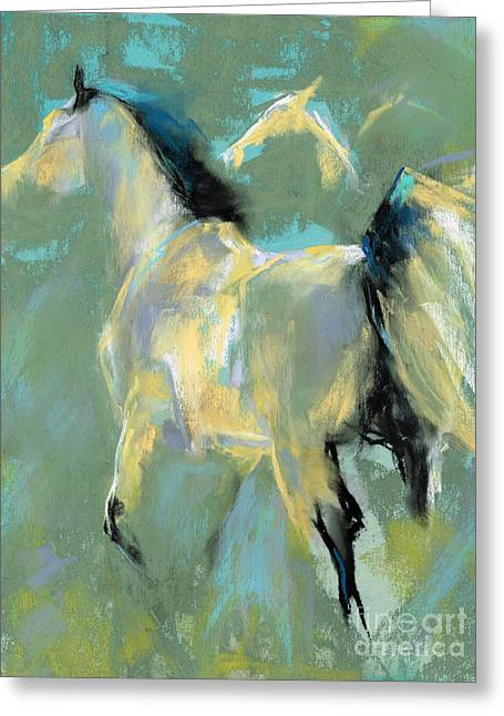 Western Western Art Pastels Greeting Cards - Fading Out to Three Greeting Card by Frances Marino