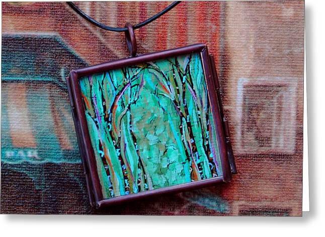Miniature Jewelry Greeting Cards - Fae Grove Greeting Card by Dana Marie