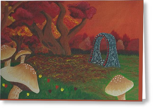 Fantasy Tree Greeting Cards - Faerie Gate Greeting Card by Robyn Embree