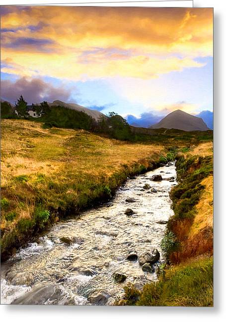 Gloaming Photographs Greeting Cards - Faerie Lands - Beautiful Morning On The Isle of Skye Greeting Card by Mark E Tisdale