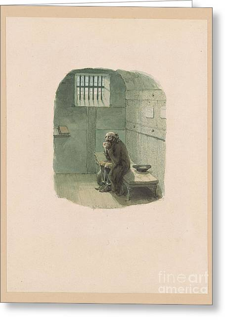 Fagin In The Condemned Cell Greeting Card by MotionAge Designs