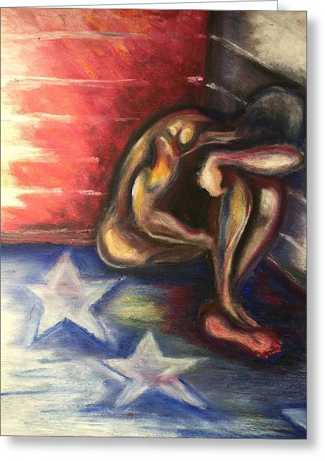America Pastels Greeting Cards - Failures Dont Determine Outcome. Greeting Card by Ebony Thompson