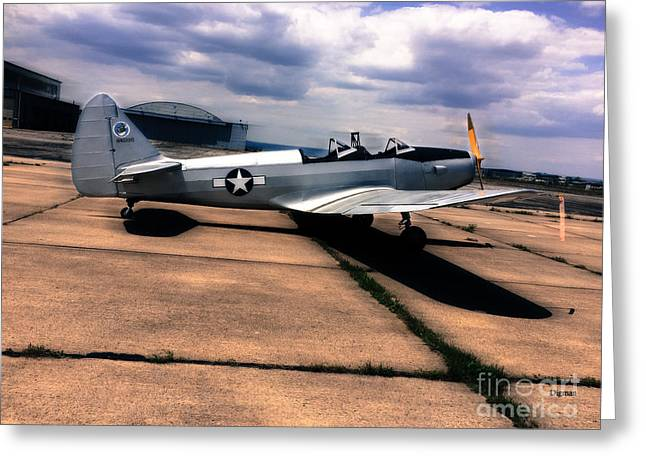 Historical Photographs Greeting Cards - Fairchild PT -19A Greeting Card by Steven  Digman