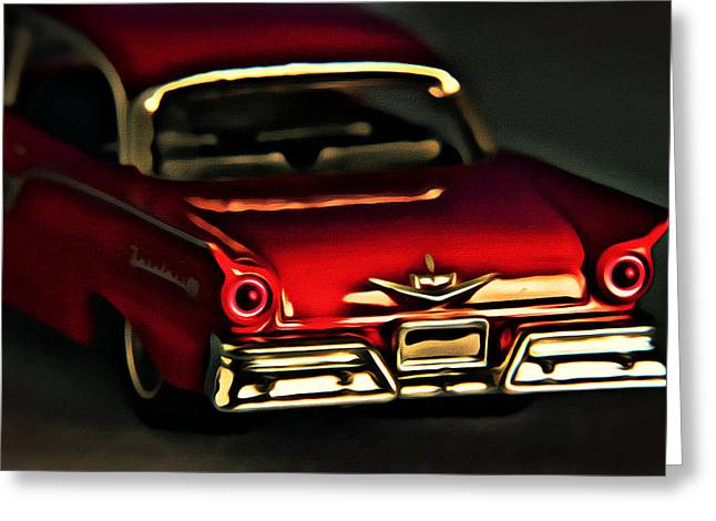 Fairlane 500 Greeting Card by Jeff  Gettis