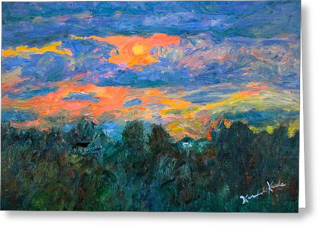 Impressionist Greeting Cards - Fairlawn Eve Stage Two Greeting Card by Kendall Kessler