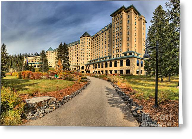 Chateau Greeting Cards - Fairmont Chateau Lake Louise Greeting Card by Adam Jewell