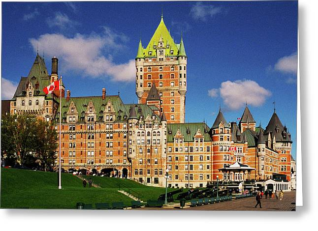 Geschichte Greeting Cards - Fairmont Le Chateau Frontenac Greeting Card by Juergen Weiss