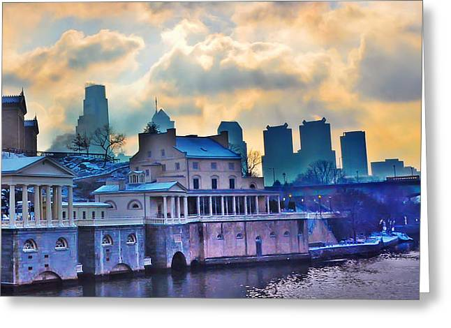 Fairmount Park Digital Art Greeting Cards - Fairmount Water Works Greeting Card by Bill Cannon